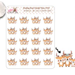 Darling Deer Family Time Sticker Sheet
