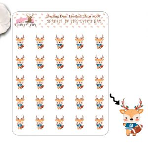 Darling Deer Football Sticker Sheet