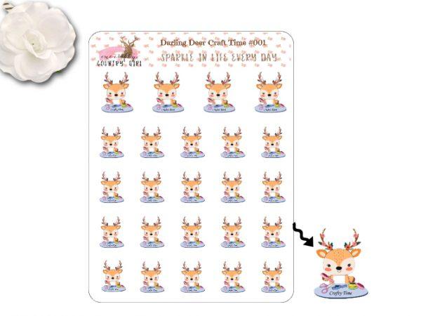 Darling Deer Craft Time Sticker Sheet