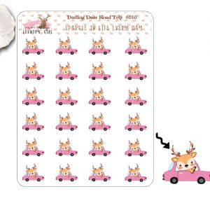 Darling Deer Road Trip Sticker Sheet