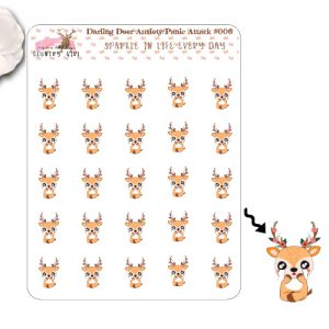 Darling Deer Anxiety-Panic Attack Sticker Sheet