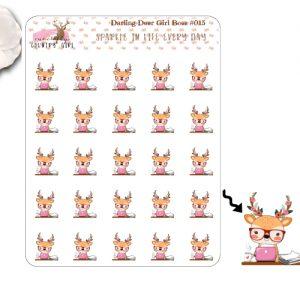 Darling Deer Girl Boss Sticker Sheet