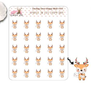 Darling Deer Happy Mail Sticker Sheet