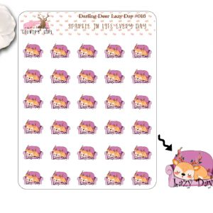 Darling Deer Lazy Day Sticker Sheet
