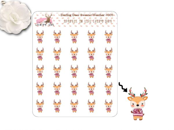 Darling Deer Sweater Weather Sticker Sheet
