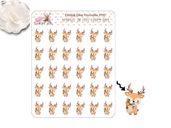 Darling Deer Groceries Sticker Sheet