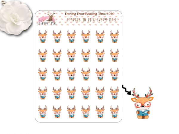 Darling Deer Reading Time Sticker Sheet