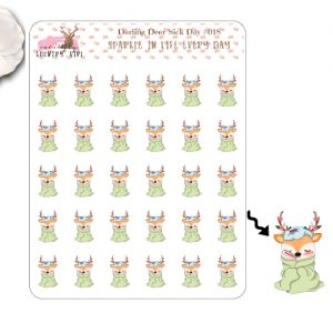 Darling Deer Sick Day Sticker Sheet
