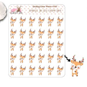 Darling Deer Water Sticker Sheet