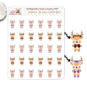 Darling Deer Gone Country Sticker Sheet