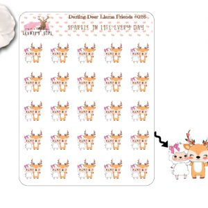 Darling Deer Llama Friends Sticker Sheet