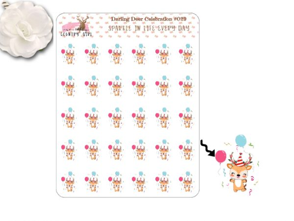 Darling Deer Celebration Sticker Sheet