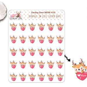 Darling Deer Mom Sticker Sheet