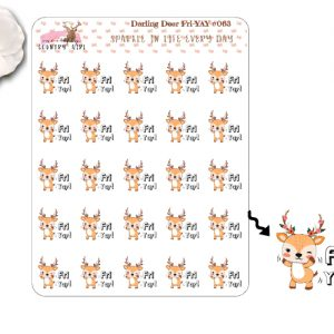 Darling Deer Fri-Yay Sticker Sheet
