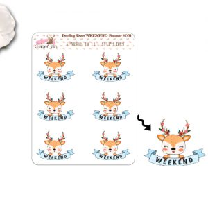 Darling Deer Weekend Banner Sticker Sheet