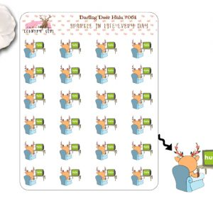 Darling Deer hulu Sticker Sheet