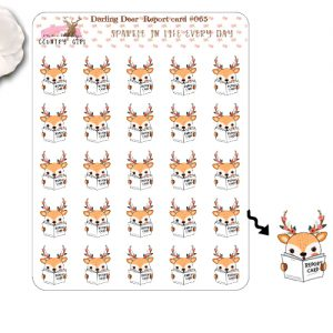 Darling Deer Report Card Sticker Sheet