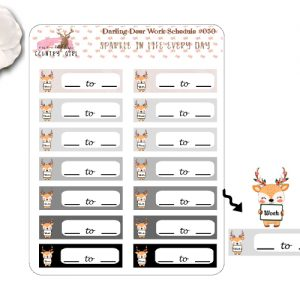 Darling Deer work Sticker Sheet