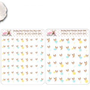Darling Deer Weather Stickers