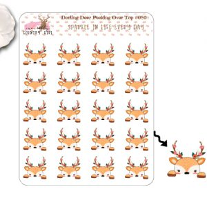Darling Deer Peeking over the top Sticker Sheet