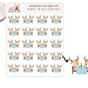 Darling Deer Date night Sticker Sheet
