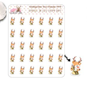 Darling Deer Taco Tuesday Sticker Sheet