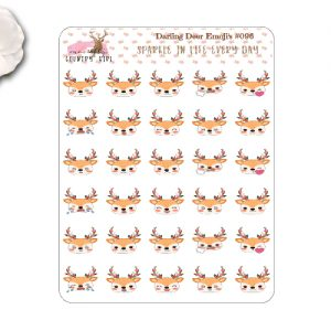 darling deer emoji stickers