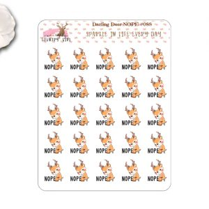 Darling Deer Nope Stickers