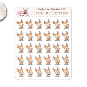 Darling Deer Take Out Food Stickers