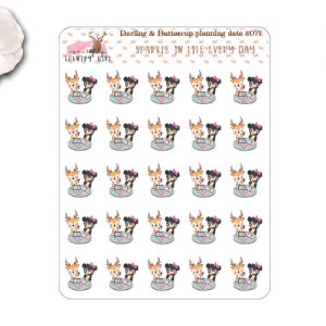 Darling Deer and Buttercup Planner Date Stickers