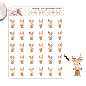 Darling Deer Gymnastics Sticker Sheet