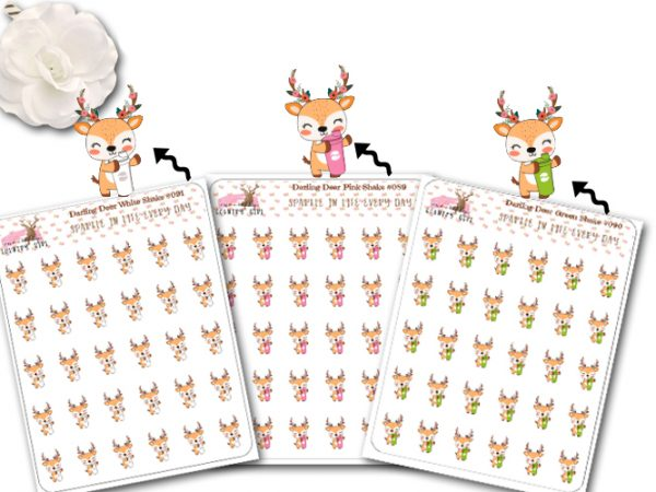 Darling Deer All Shakes Sticker sheet