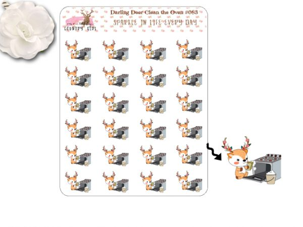 Darling Deer Cleaning The Oven Sticker Sheet