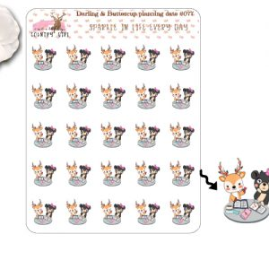 Darling Deer and Buttercup Planning Date Sticker Sheet