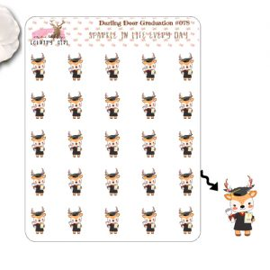 Darling Deer Graduation Sticker Sheet