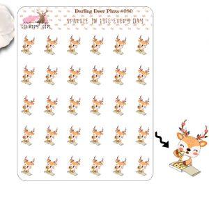Darling Deer Pizza Sticker Sheet