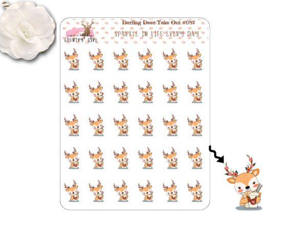 Darling Deer Take Out Food Sticker Sheet