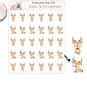 Darling Deer Yoga Sticker Sheet