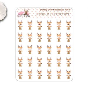 Darling Deer Gymnastics planner stickers