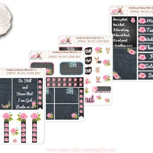 Chalkboard Roses Mini kit all pages