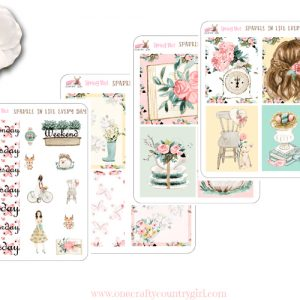 spring bliss mini sticker kit