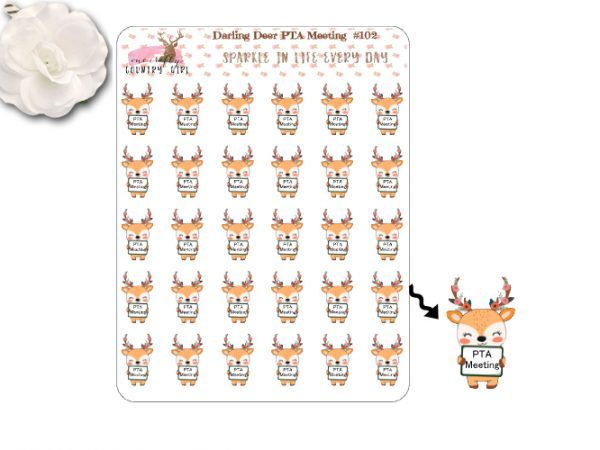Darling Deer PTA Meeting Sticker Sheet