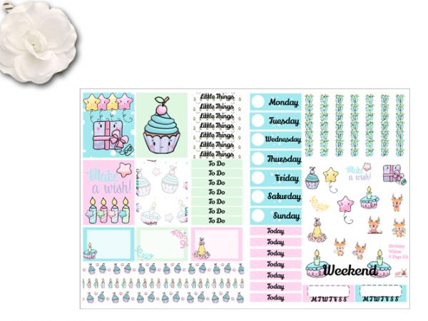 New 2 page Birthday Wishes Kits