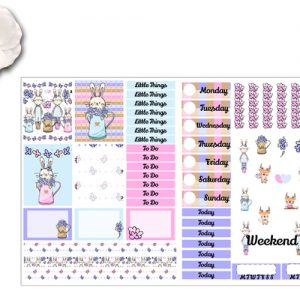 Spring Time Bunnies 2 page Sticker Kit