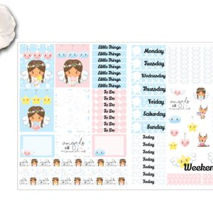 2 page angel sticker kit