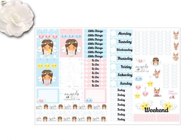 2 page angel sticker kit