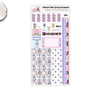 Spring time Bunnies Hobonichi Sticker Kit