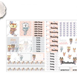 New 2 page Winter Friends Sticker Kit