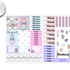 Spring Time Bunnies 2 page Stickers Kit
