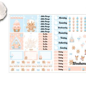 2 Page Winter Gingerbread kit